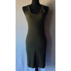 H&M Basics Olive Green Bodycon Dress